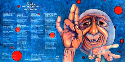 Inside cover for Court of the Crimson King by King Crimson
