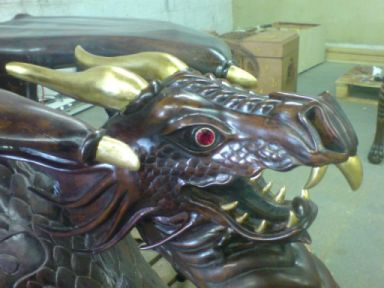 Dragon Head With Jewel Eyes