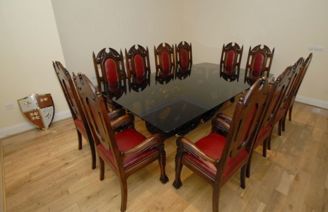 Dragon Dining Table and Dragon Chairs In Situe