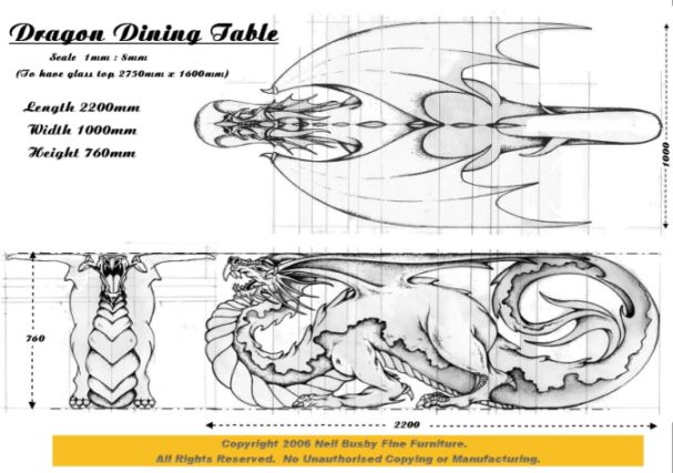 Dragon Table Final Design Drawing