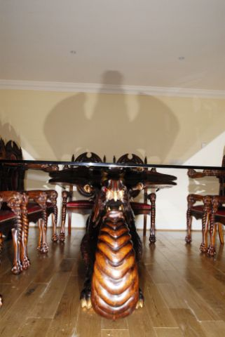 Dragon Dining Table Front View