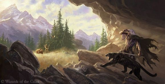 Soujourn by Todd Lockwood for the Salvatore Drizzt book cover